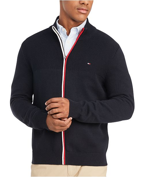 Tommy Hilfiger Men's Rhodes Regular-Fit Full-Zip Sweater