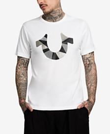 True Religion Men's Horseshoe Cut Up Graphic T-Shirt