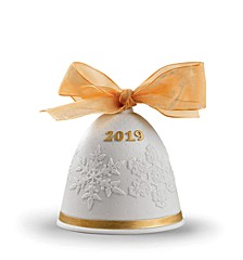 2019 Christmas Re-Deco Gold Bell Ornament