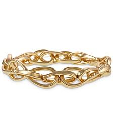 Gold-Tone Chain Link Stretch Bracelet