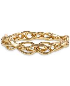 Laundry by Shelli Segal Gold-Tone Chain Link Stretch Bracelet