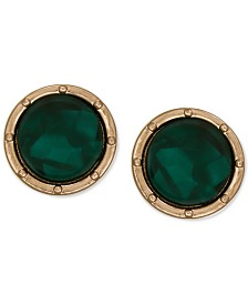 Laundry by Shelli Segal Gold-Tone Resin Button Clip-on Earrings