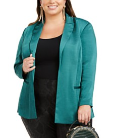 I.N.C. Plus Size Open-Front Blazer, Created for Macy's