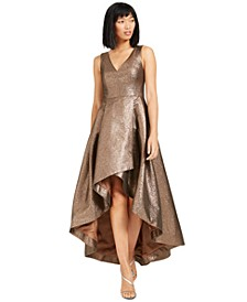 Metallic High-Low Ball Gown