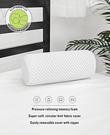 On-The-Go Gel-Infused Memory Foam Neck Roll Pillow