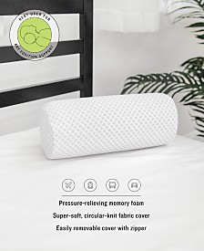 SensorPEDIC On-The-Go Gel-Infused Memory Foam Neck Roll Pillow