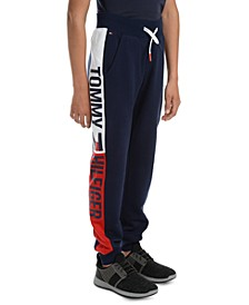 Big Boys Chaka Logo-Panel Fleece Sweatpants