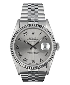 Men's  Stainless Steel Datejust Jubilee With Gray Roman Dial