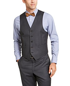 Men's Classic-Fit UltraFlex Stretch Gray Suit Vest