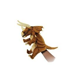 "Hansa 16"" Triceratops Puppet Plush Toy"