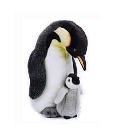 Lelly National Geographic Penguin With Baby Plush Toy