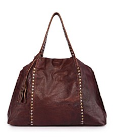 Birch Leather Tote Bag