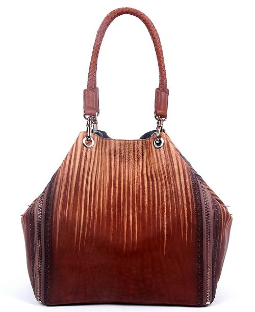 OLD TREND Barracuda Leather Tote Bag