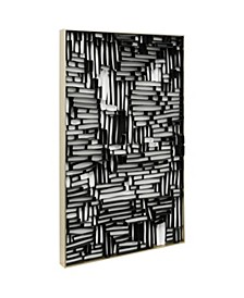 3D Black and White Paper Abstract