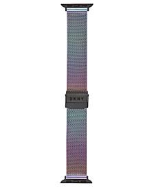 DKNY Women's Stainless Steel Rainbow Mesh Apple Watch® Bracelet