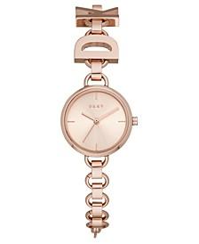 Women's Soho Logo Rose Gold-Tone Stainless Steel Chain Bracelet Watch 24mm