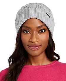 Patchwork Cable-Knit Cuff Hat