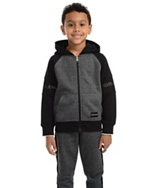 Calvin Klein Jeans Little Boys Varsity Colorblocked Fleece Hoodie
