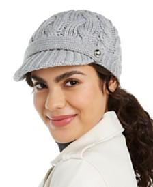 Michael Michael Kors Patchwork Cable-Knit Peak Hat