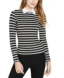 Olympic Blvd Layered-Look Striped Top