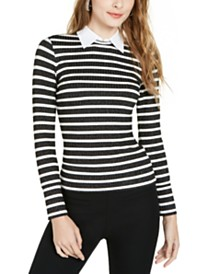 Trina Turk Olympic Blvd Layered-Look Striped Top