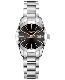 Women's Swiss Conquest Classic Stainless Steel Bracelet Watch 30mm