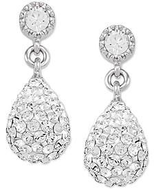 Swarovski Crystal Teardrop Drop Earrings in Sterling Silver