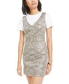 Faux-Suede Snake-Embossed Dress, Created for Macy's