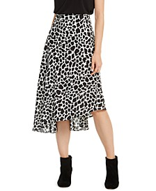 INC Spotted Asymmetrical Midi Skirt, Created for Macy's