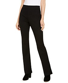 INC Pull-On Ponté-Knit Bootcut Pants, Created for Macy's