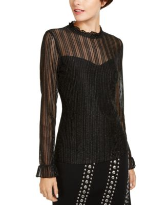INC Mock-Neck Shine Top, Created for Macy's