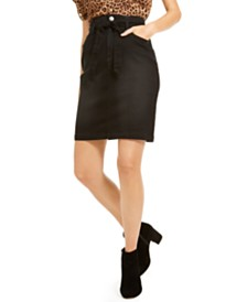 I.N.C. Curvy Paperbag Jean Skirt, Created For Macy's