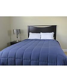 Luxlen Microfiber Reversible Blanket Soft Plush to Satin Cool, Twin