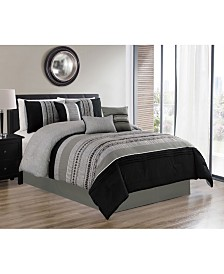 Luxlen Nilsen 7 Piece Comforter Set, Queen