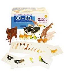 Stages Learning Materials Language Builder - 3D-2D Matching Kit, Animals
