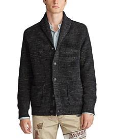 Men's Shawl Cord Sweater