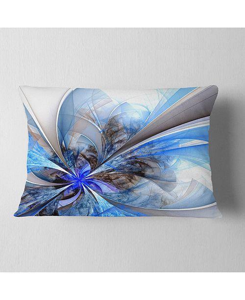 Design Art Designart Symmetrical Large Blue Fractal Flower Floral Throw Pillow 12 X 20 Reviews Decorative Throw Pillows Bed Bath Macy S