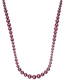 "Gold-Tone Imitation Pearl Graduated Strand Necklace, 42"" + 2"" extender, Created For Macy's"
