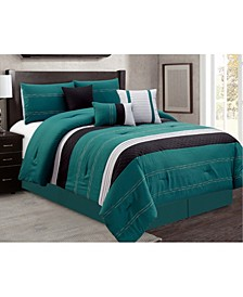 Hunnicutt 7 Piece Comforter Set, Cal King