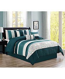 Luxlen Parakh 7 Piece Comforter Set, King
