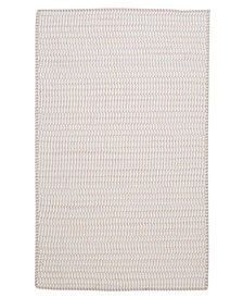 Ticking Stripe Rect Canvas 2' x 3' Accent Rug