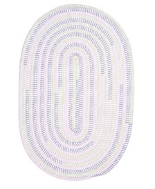 Ticking Stripe Oval Dreamland 2' x 3' Accent Rug