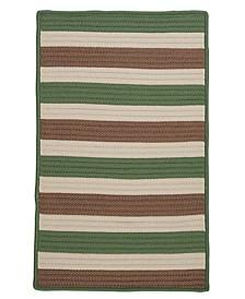 Stripe It Moss-Stone 2' x 4' Accent Rug