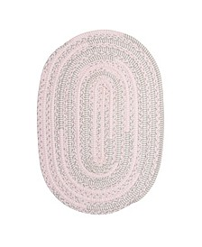Bella Nursery Pink Grey 2' x 4' Accent Rug