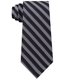 Calvin Klein Men's Classic Stripe Silk Tie