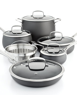Belgique Hard Anodized 11 Pc Cookware Set Only At Macy S