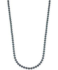 "Gold-Tone Imitation Navy Pearl Strand Necklace, 42"" + 3"" extender, Created For Macy's"