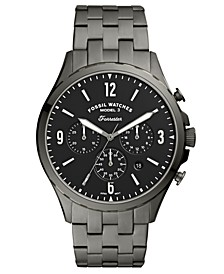 Men's Chronograph Forrester Smoke Stainless Steel Bracelet Watch 46mm