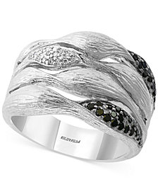 EFFY® Diamond Multi-Row Statement Ring (1/4 ct. t.w.) in Sterling Silver