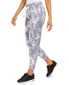 Calvin Klein Performance Starburst Tie-Dyed Fleece-Lined Joggers